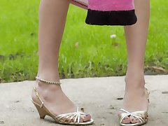 Kasey shows off her cute pink panties
